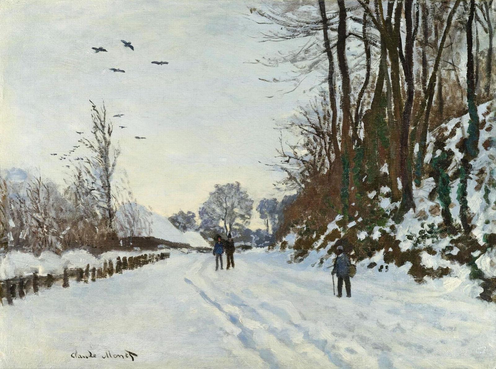 冬季通往圣西门农场的路