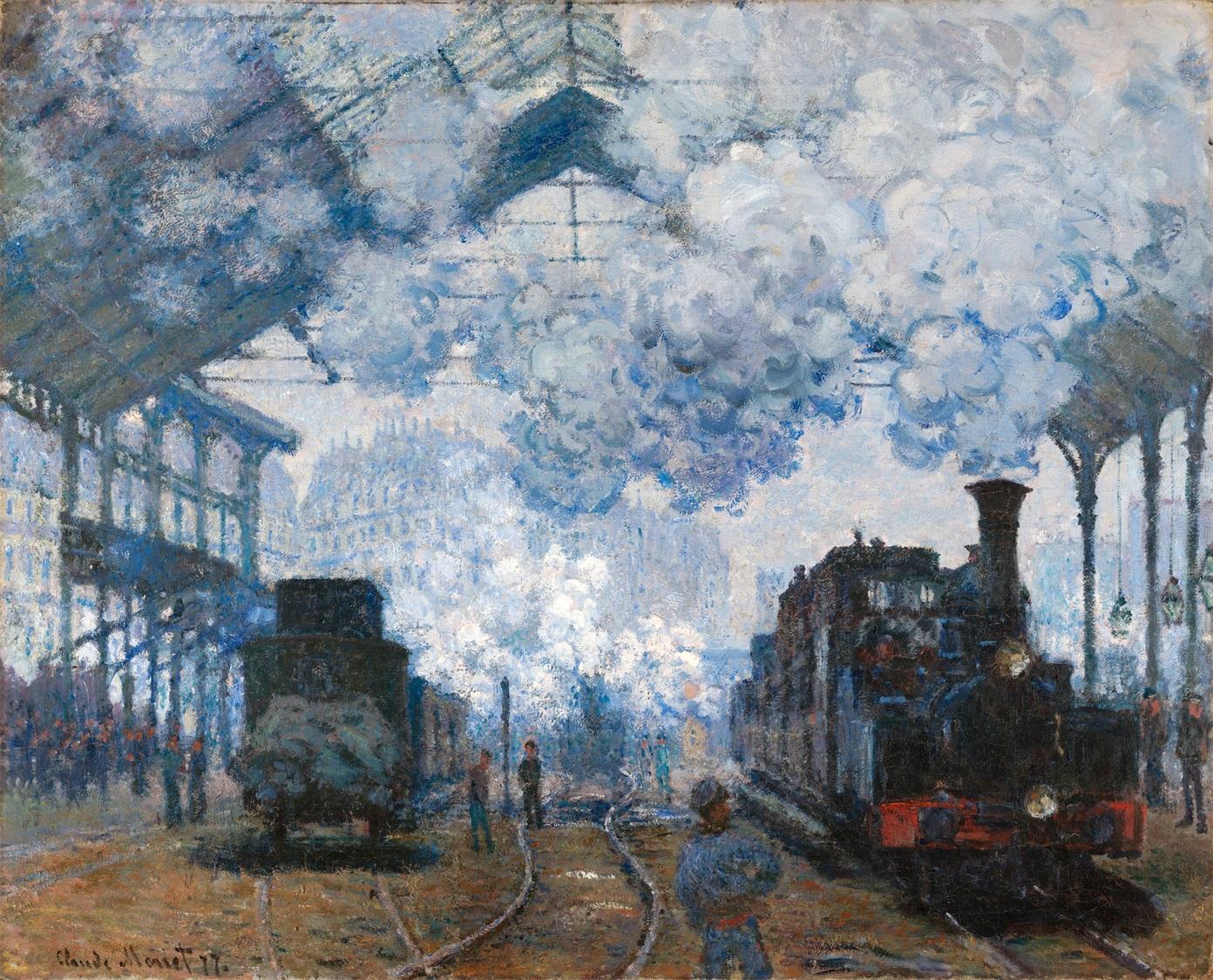 圣拉扎尔车站火车进站